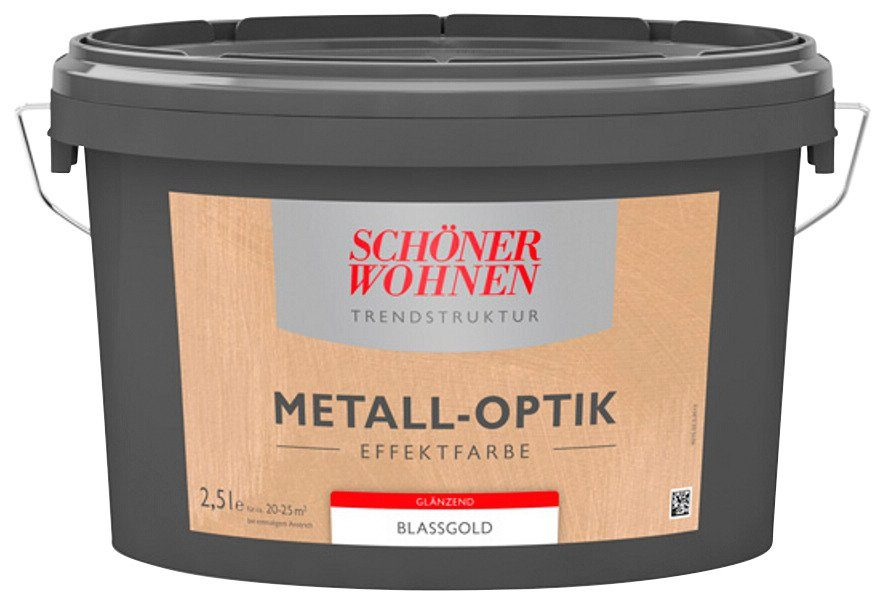 Schöner Wohnen Farbe Effektfarbe »Metall-optik glänzend 2,5L silber«