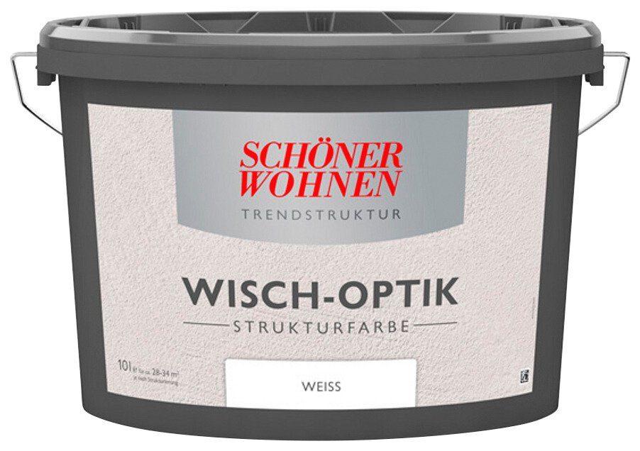 Schöner Wohnen Farbe Innenfarbe »Wischoptik Strukturfarbe 10,0L weiss«