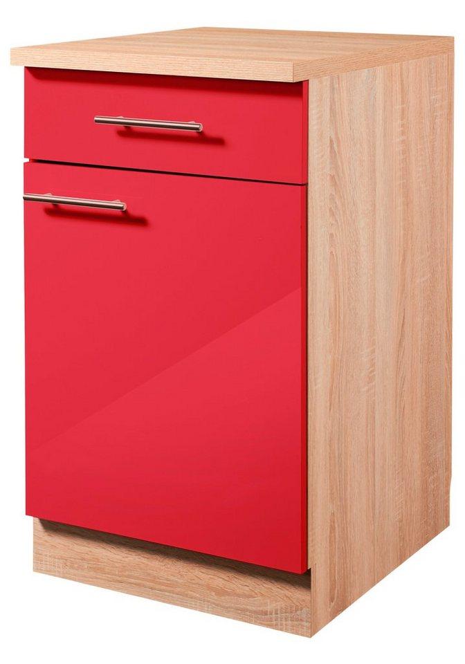 Küchenunterschrank »Montana Glanz, Breite 60 cm« in rot