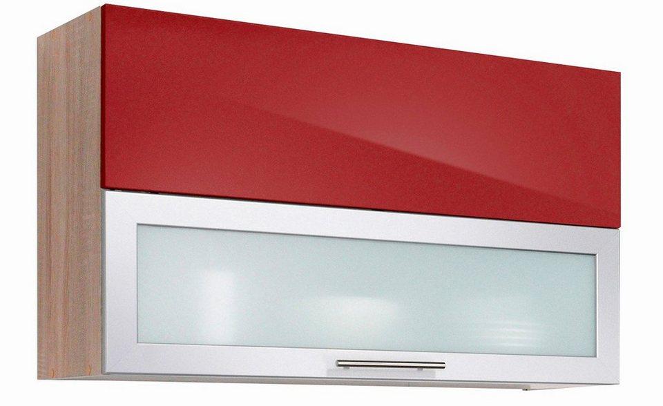Küchenhängeschrank »Montana Glanz, Breite 90 cm« in rot