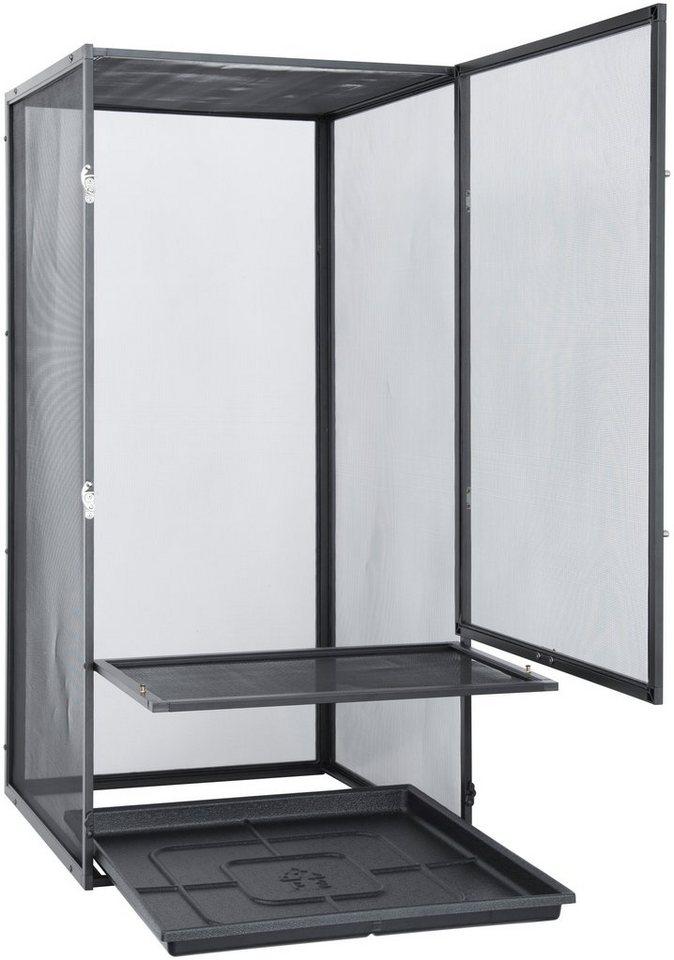 Terrarium »EX Aluminium Gaze« 45/ 45/90 cm in weiß