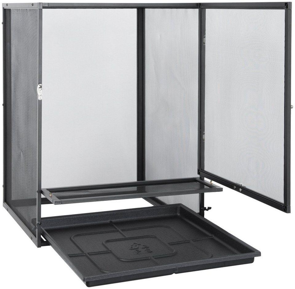 Terrarium »EX Aluminium Gaze« 45/45/60 cm in weiß