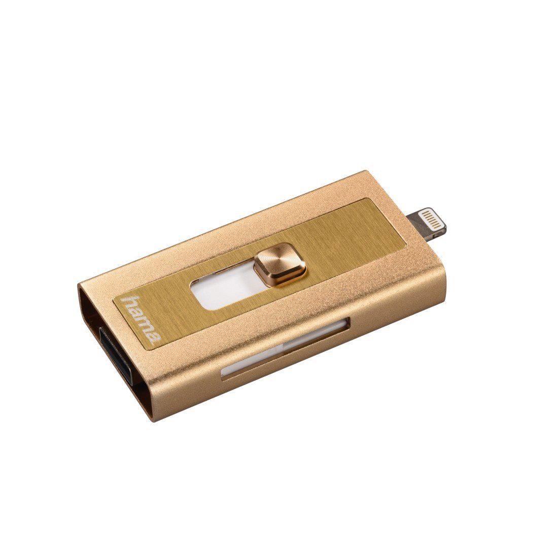 Hama microSD Kartenleser mit USB und Lighting Anschluss MoveData »für Apple iPhone, iPad, iPod«