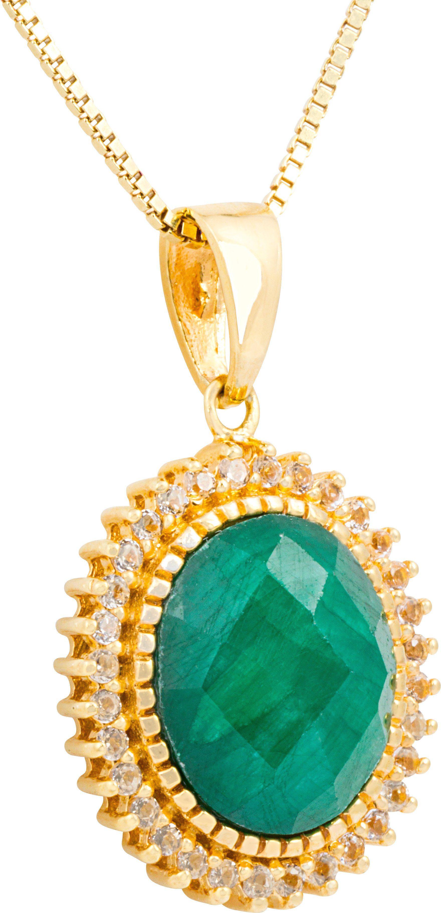 vivance jewels Kette mit Anhänger mit Korund und Topasen