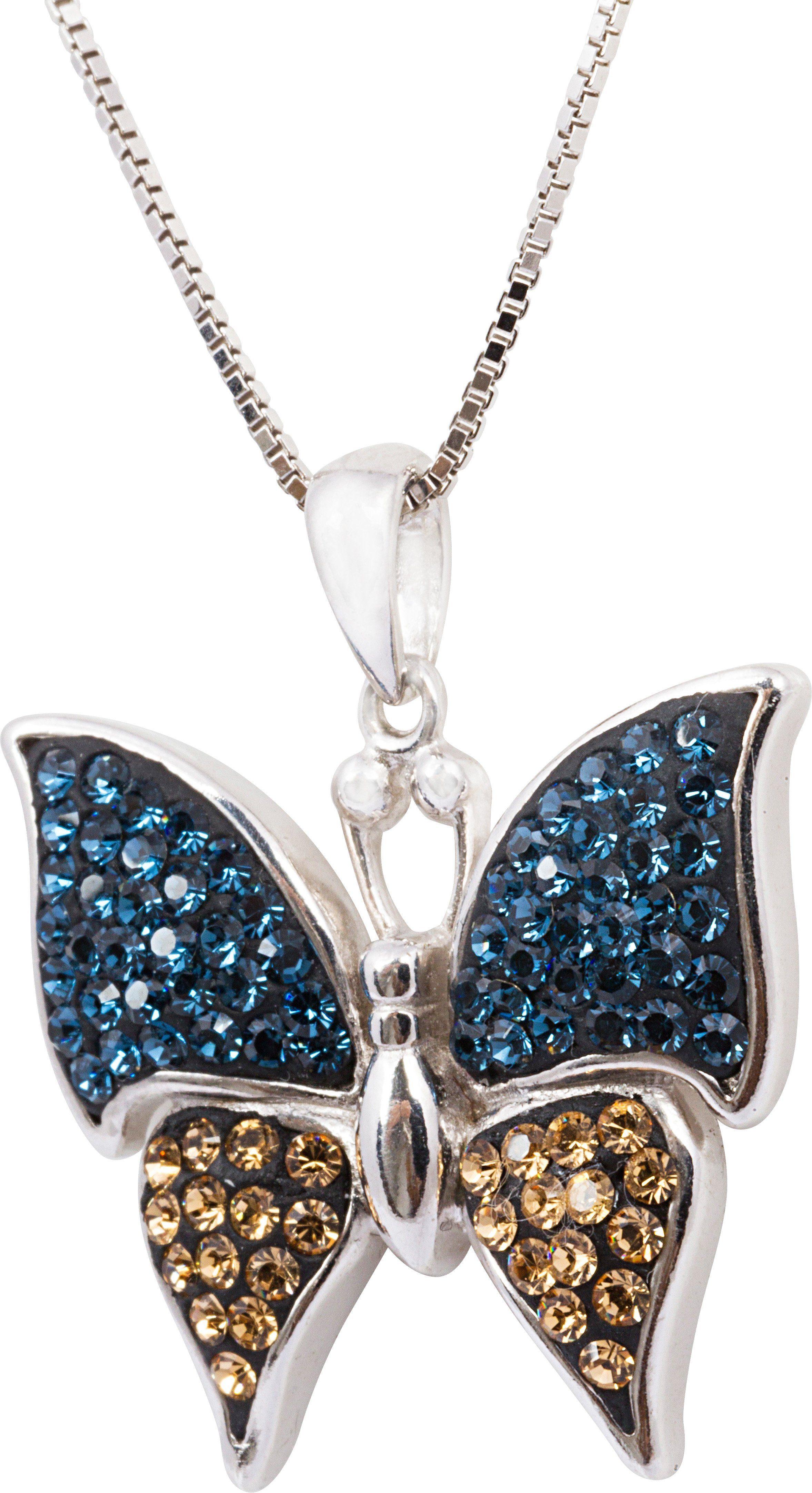 firetti Kette mit Anhänger, mit Swarovski® Kristallen, »Schmetterling«