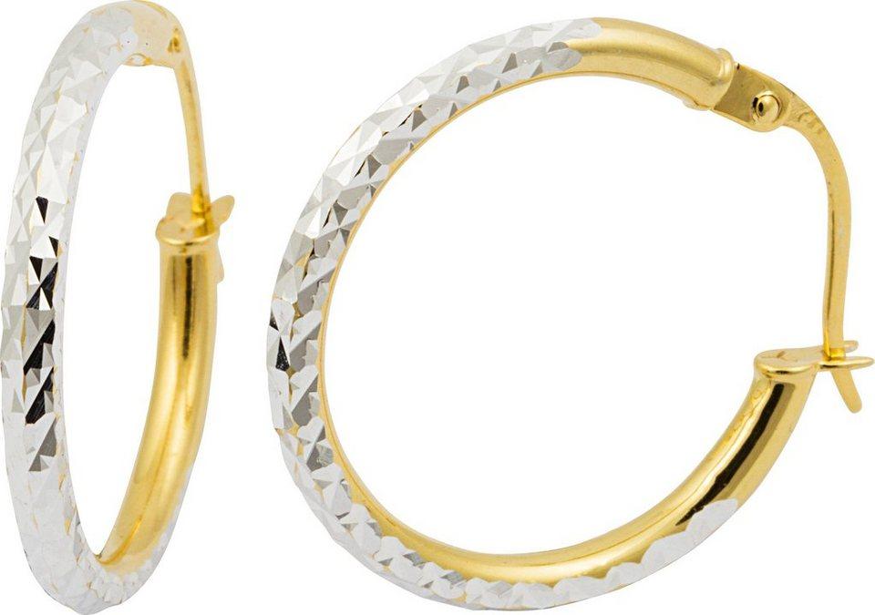 firetti Paar Creolen in Silber 925-Vergoldet