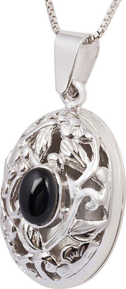 firetti Kette mit Anhänger, mit Onyx, »Medaillon« in Silber 925-schwarz