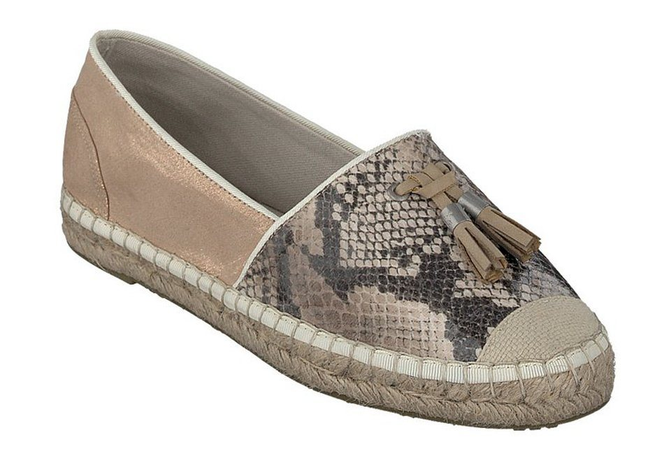 MUSTANG SHOES Espadrilles in braun/rose