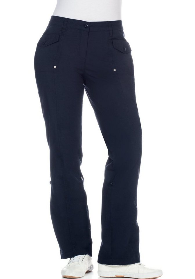 sheego Casual Stretch-Hose mit Krempelfunktion in marine