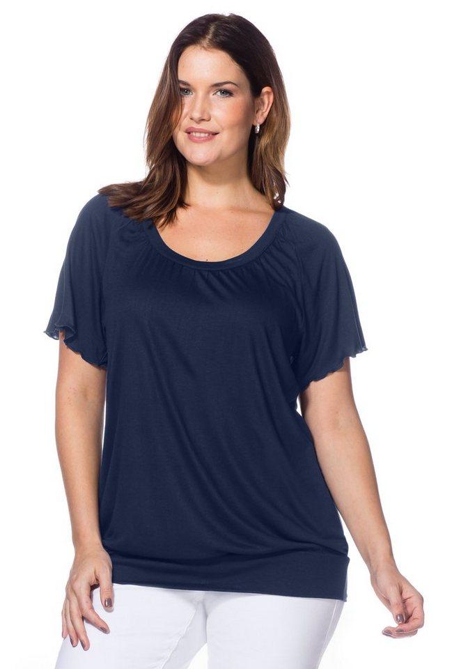 sheego Style T-Shirt mit Raglan-Flügelärmeln in marine