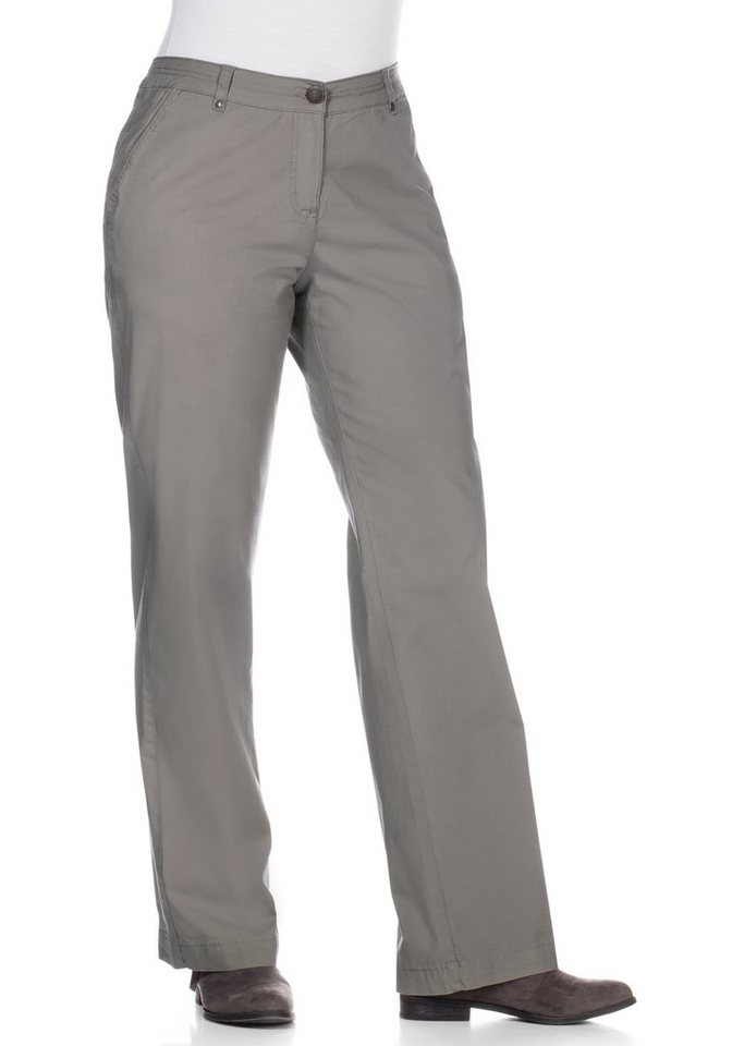 sheego Casual Stretch-Hose in leichter Qualität in grau