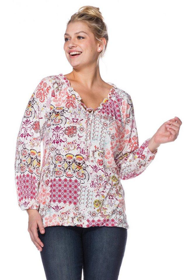 sheego Casual Shirt mit bequemem Tragekomfort in bunt bedruckt