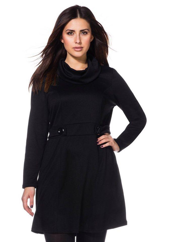 sheego Trend Kleid in schwarz