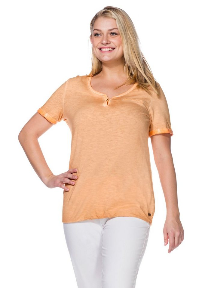 sheego Casual T-Shirt in apricot