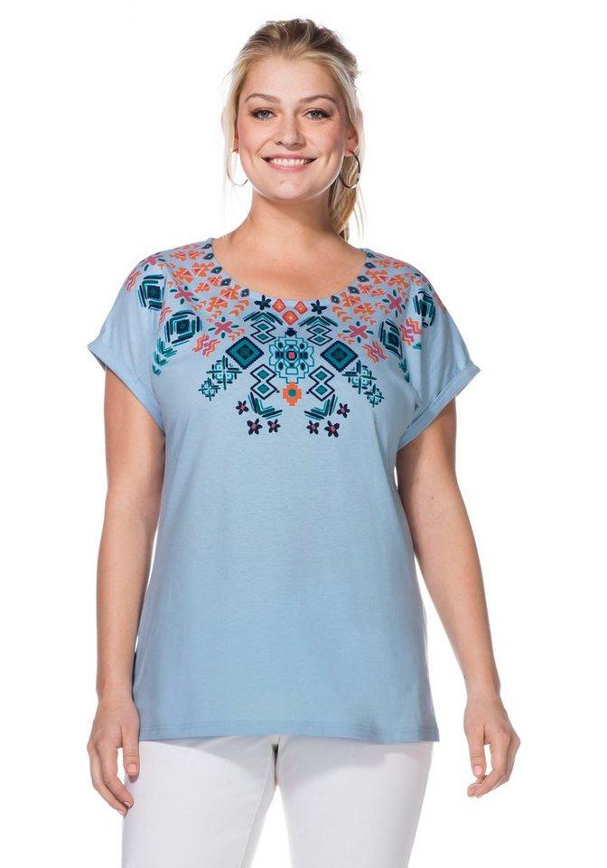 sheego Casual Shirt in pastellblau