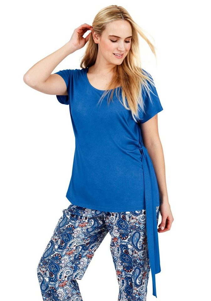 sheego Trend T-Shirt in ozeanblau