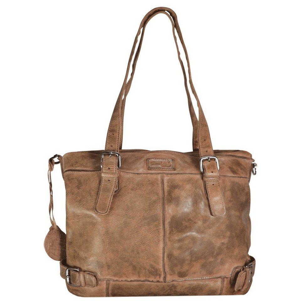 Greenland Femi & Nine Color Shopper Tasche Leder 40 cm in light brown
