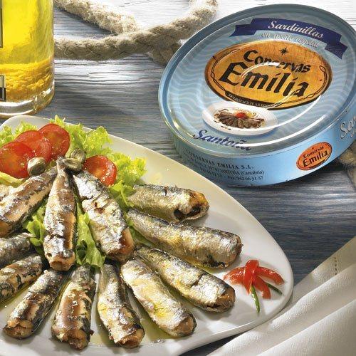 Emilia Kleine Sardinen aus dem Atlantik in Öl