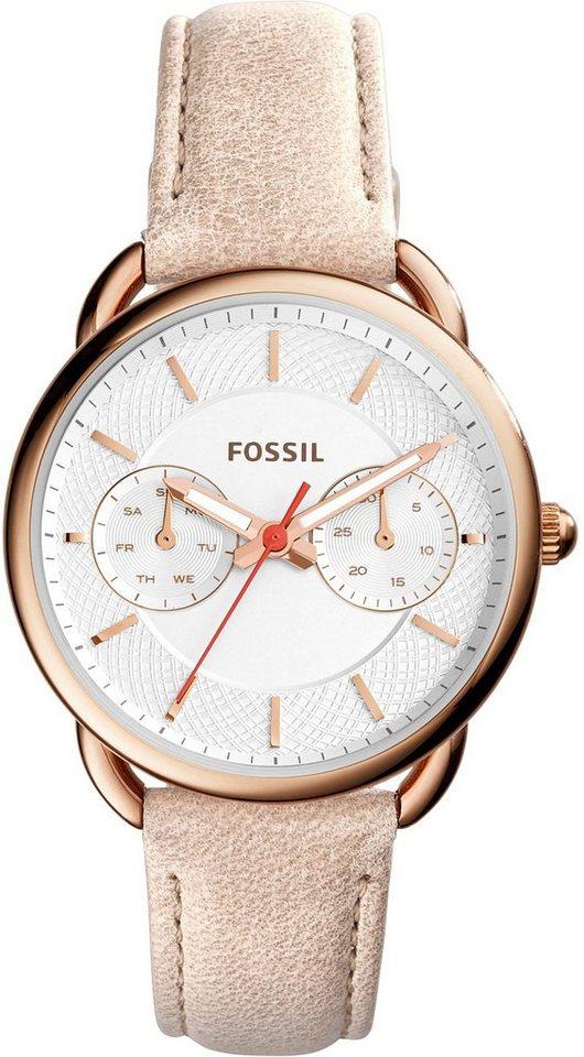 Fossil Multifunktionsuhr, »TAILOR, ES4007« in beigefarben