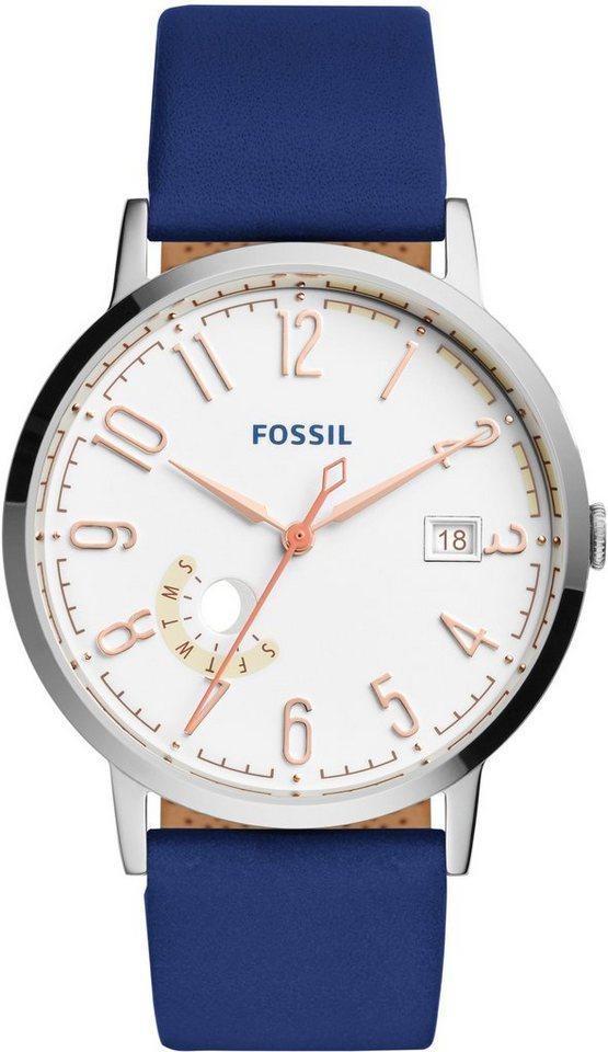 Fossil Armbanduhr, »VINTAGE MUSE, ES3989« in blau