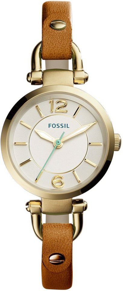 Fossil Armbanduhr, »GEORGIA SMALL, ES4000« in braun