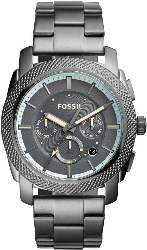 Fossil Chronograph, »MACHINE, FS5172« in grau