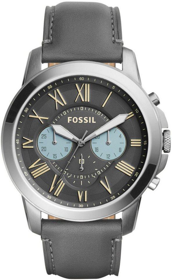 Fossil Chronograph »GRANT, FS5183« in grau