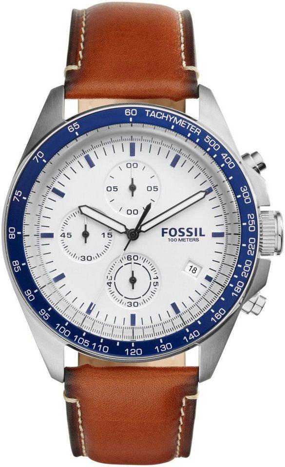 Fossil Chronograph, »Sport 54, CH3029« in dunkelbraun