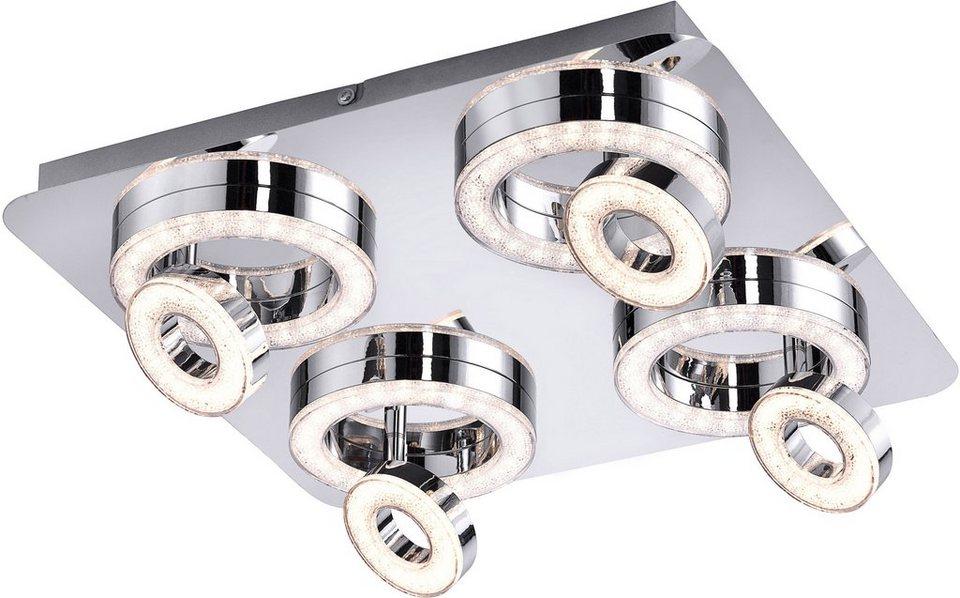Leuchten Direkt LED-Deckenleuche (4/8flg.) in Metall, chromfarbig