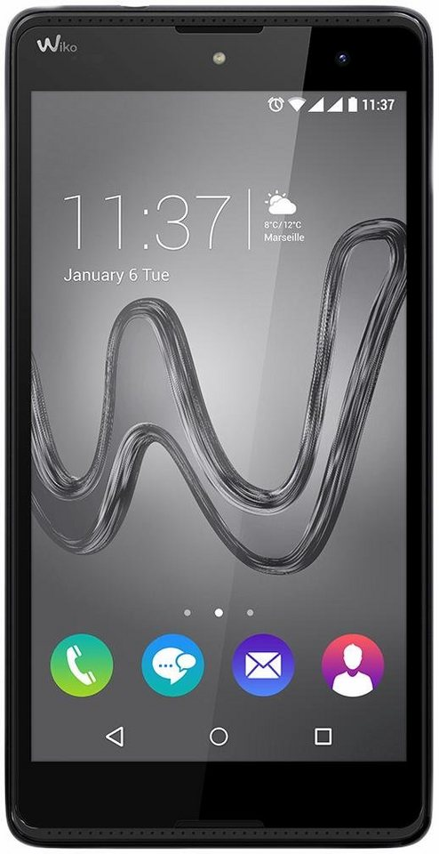 Wiko Robby Smartphone, 13,97 cm (5,5 Zoll) Display, Android 6.0 (Marshmallow), 8,0 Megapixel in schwarz