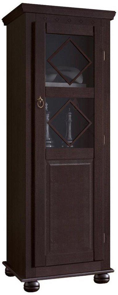 Vitrine halbhoch, Home affaire, Höhe 148 cm in Kolonialfarben