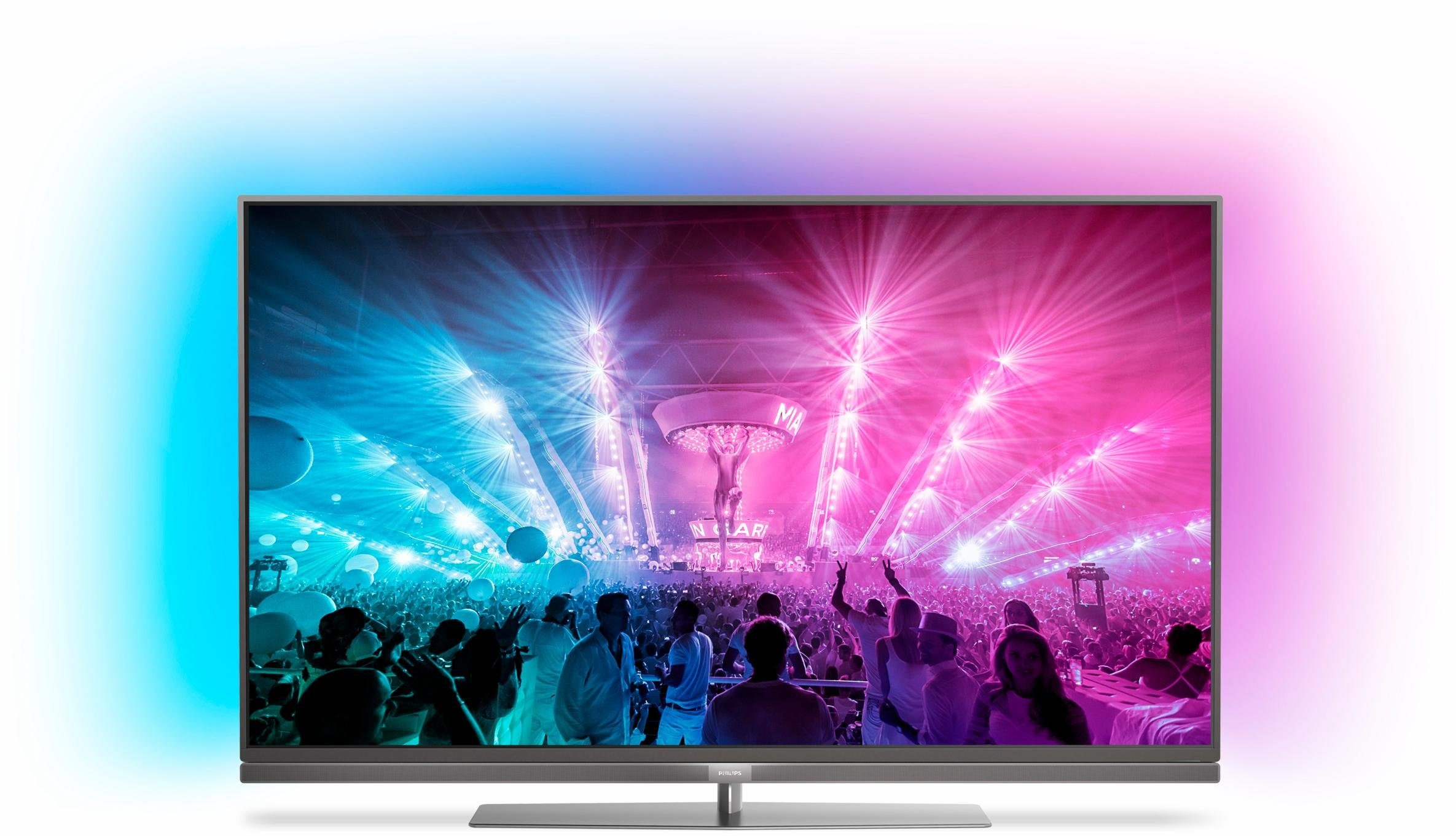 Philips 55PUS7181/12, LED Fernseher, 139 cm (55 Zoll), 2160p (4K Ultra HD) Ambilight, Smart-TV