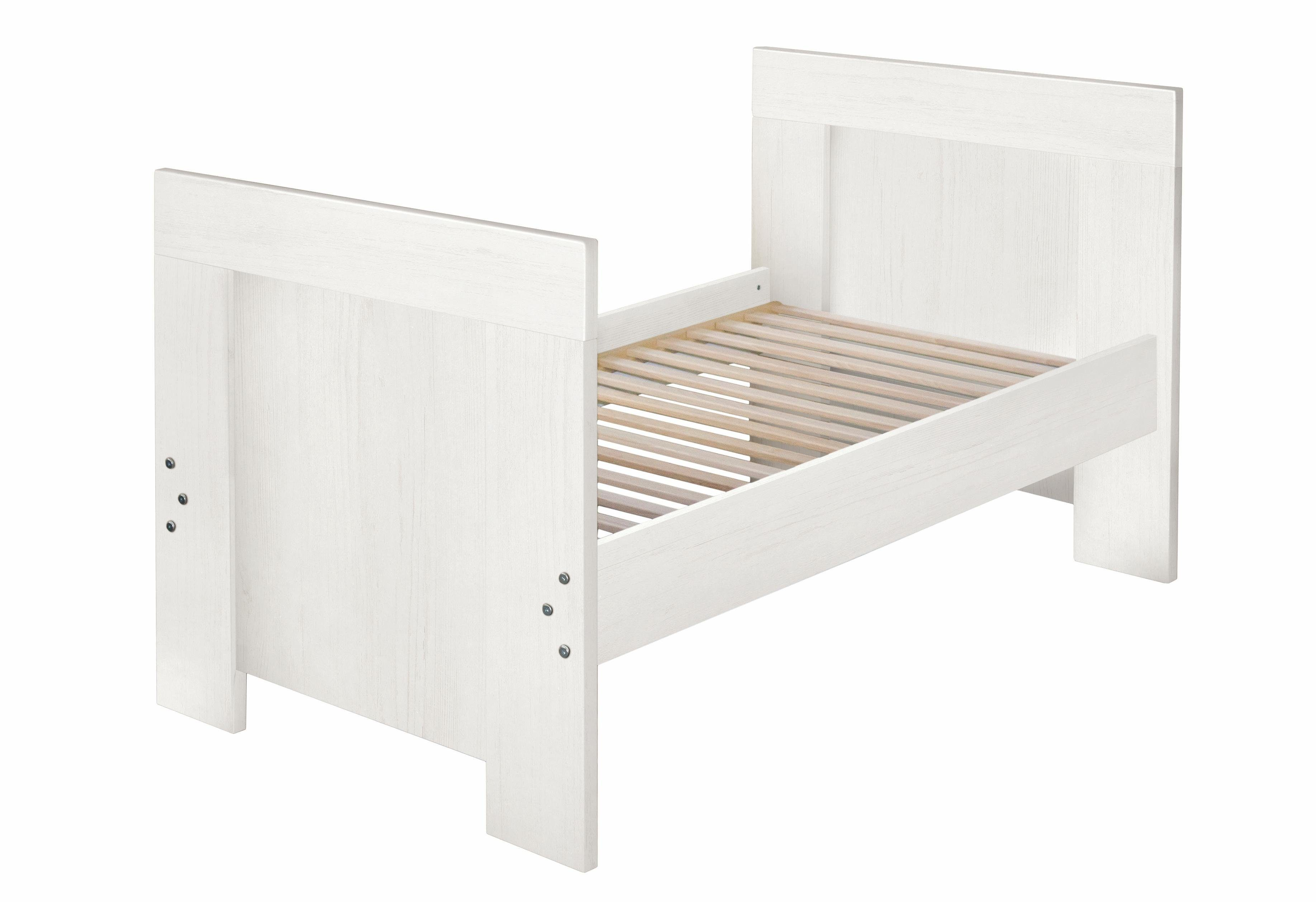 Umbauseiten zum Juniorbett für die Babymöbel Serien Granny, Bergen, Lillesand und Dandy, in Pinie NB, weiß
