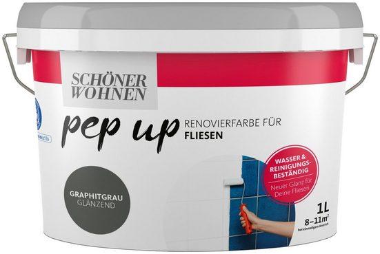 SCHÖNER WOHNEN-Kollektion Fliesenlack »pep up - graphitgrau«, glänzend, für Fliesen, 1 l