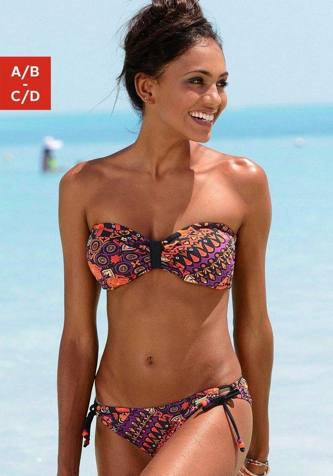 LASCANA Bandeau-Bikini »Patricia« in bedruckt