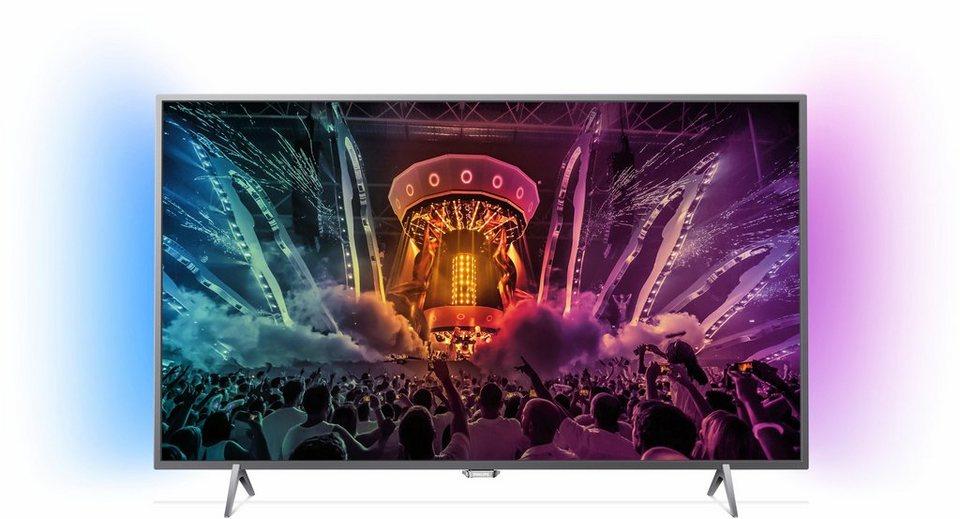 Philips 32PFS6401/12, LED Fernseher, 80 cm (32 Zoll), 1080p (Full HD) Ambilight, Smart-TV in silberfarben