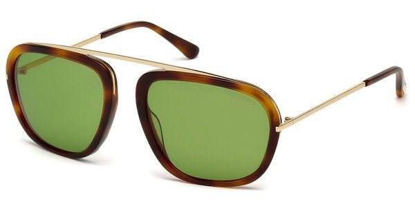 Tom Ford Herren Sonnenbrille »Johnson FT0453« in 52N - braun/grün