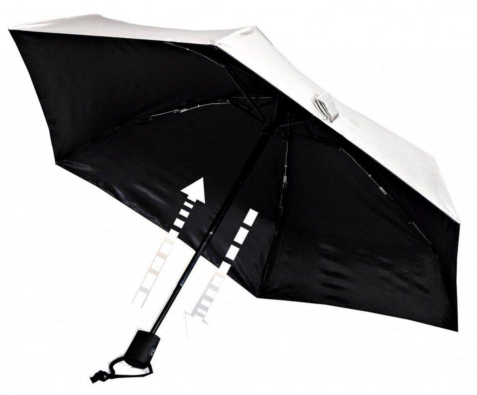 EuroSchirm Regenschirm »Dainty Automatic Regenschirm UV Protection« in weiß
