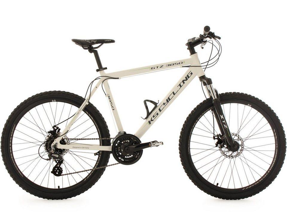 KS Cycling Hardtail-Mountainbike, 26 Zoll, 24-Gang-Kettenschaltung, »GTZ« in weiß
