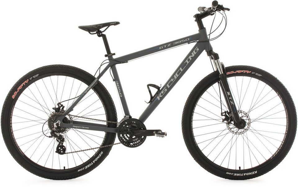 KS Cycling Hardtail-Mountainbike, 29 Zoll, 24-Gang-Kettenschaltung, Herren, »GTZ« in anthrazit