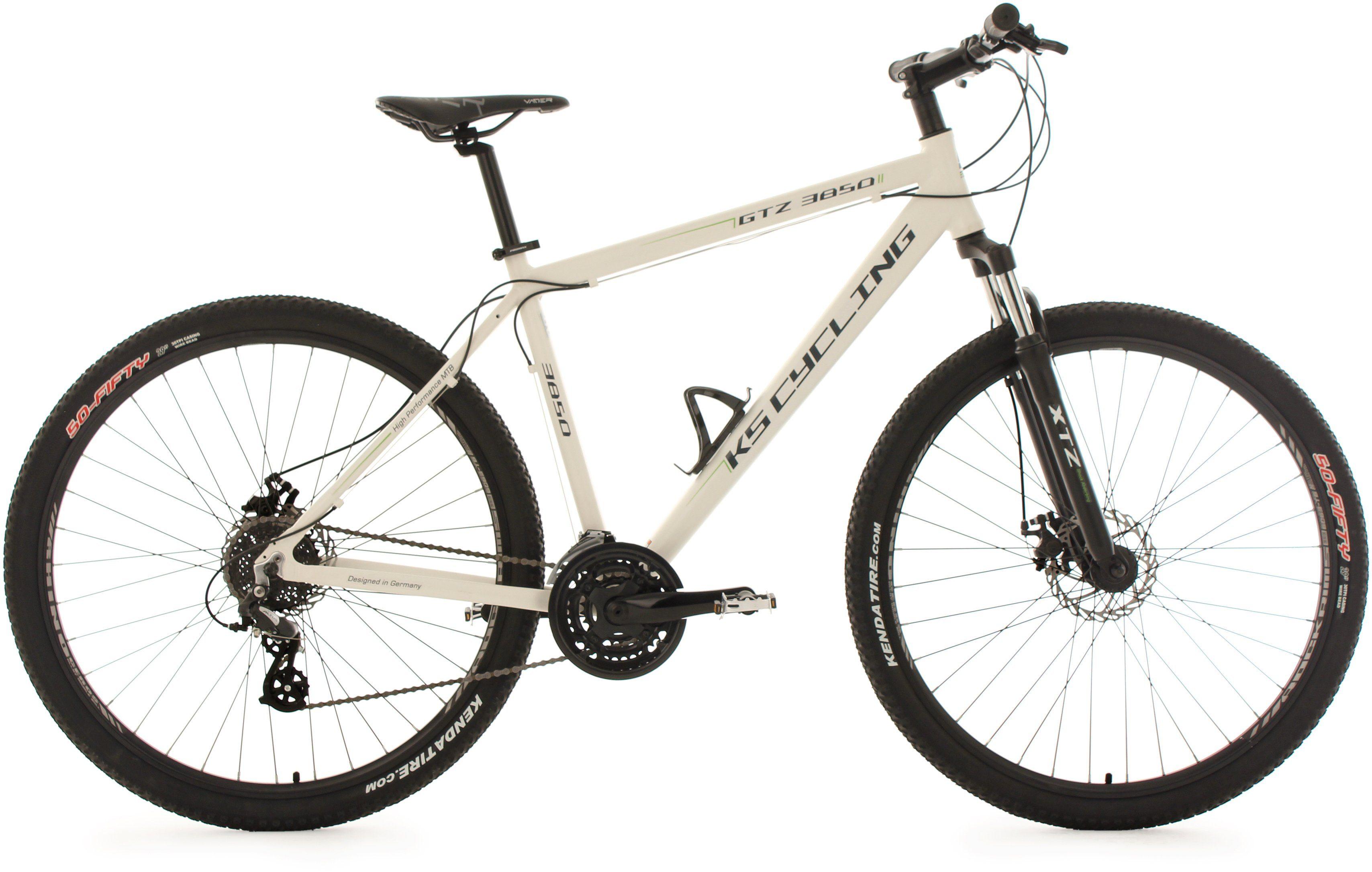 KS Cycling Hardtail-Mountainbike Herren, 29 Zoll, weiß, 24 Gang-Shimano Altus Kettenschaltung, »GTZ«