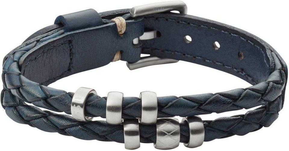 Fossil Armband, »Vintage Casual, JF02346040« in blau-silberfarben