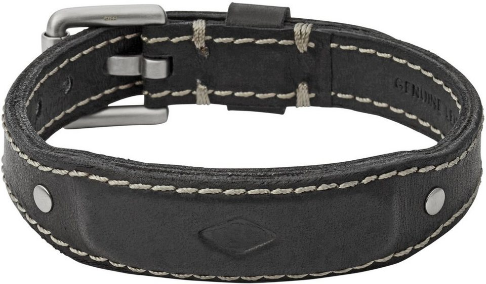 Fossil Armband, »Vintage Casual, JF02350040« in schwarz-silberfarben