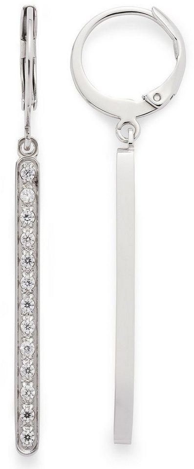 Jewels by Leonardo Paar Creolen mit Kristallsteinen, »minimo, 015868« in silberfarben