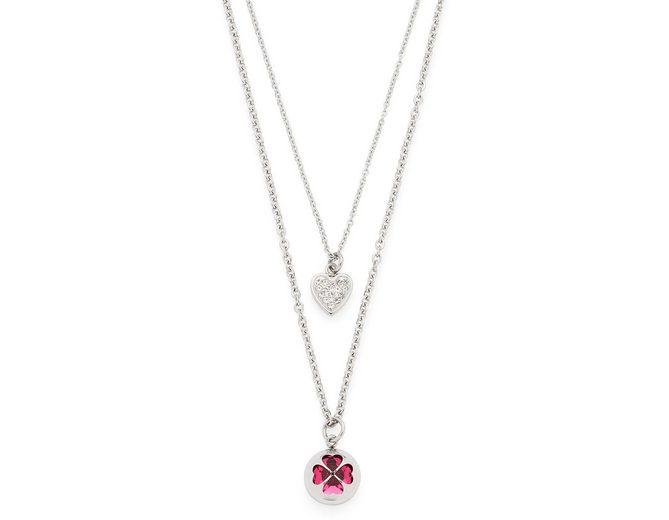 Jewels by Leonardo Kette mit Anhänger mit Glassteinen und Kristallsteinen, »allegria, 016007«
