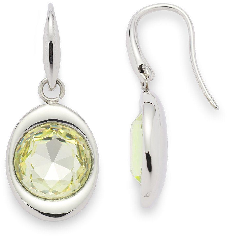 Jewels by Leonardo Paar Ohrhaken mit Glassteinen, »paradiso, 015836« in silberfarben-hellgrün