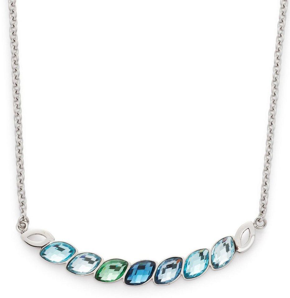 Jewels by Leonardo Kette mit Glassteinen, »lamina, 015837« in silberfarben-blau-grün