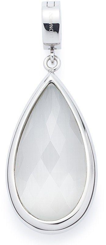 Jewels by Leonardo Charm-Einhänger mit Glasstein, »darlin's elena, 015940« in silberfarben-weiß-zartrosa