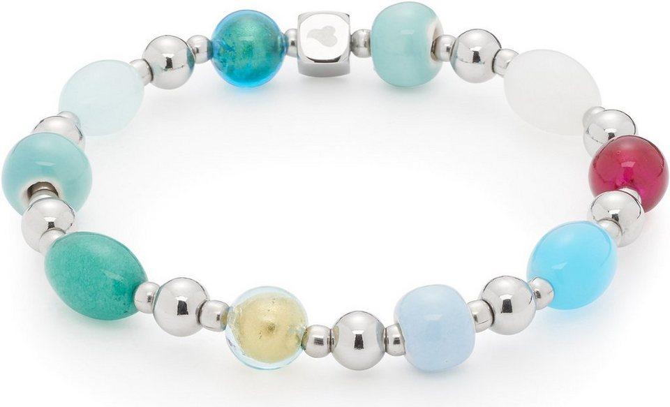 Jewels by Leonardo Armband mit Glassteinen, »darlin's felicita, 015898« in silberfarben-multicolor