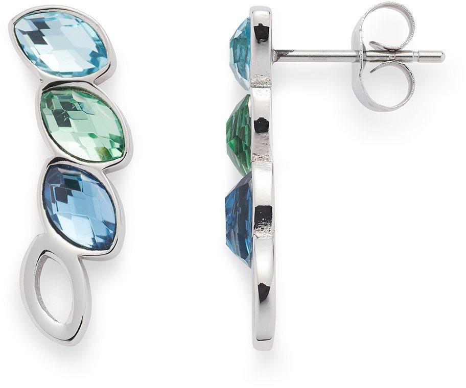 Jewels by Leonardo Paar Ohrstecker mit Glassteinen, »lamina, 015839« in silberfarben-blau-grün